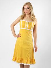 1440-3 платье желтое