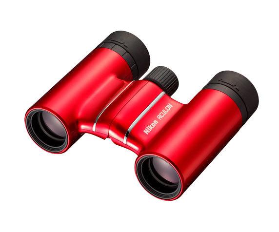 красный десятикратный бинокль Aculon T01