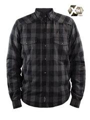 Моторубашка John Doe Motorshirt, чёрный/серый