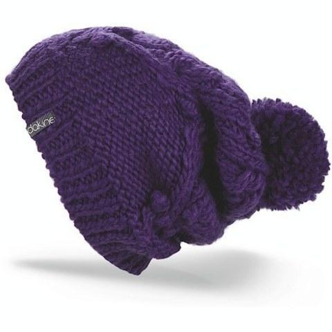 Шапка вязаная с помпоном Dakine Beverly Purple