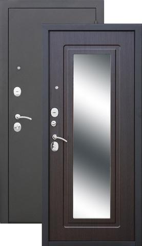 Дверь входная Цитадель Царское Зеркало, 2 замка, 1,2 мм  металл, (чёрный муар+венге)