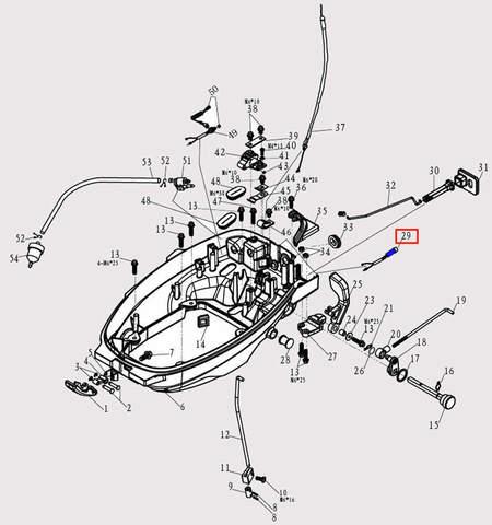 Лампа сигнальная для лодочного мотора F9.8 Sea-PRO (2-29)