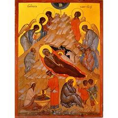 Рождество Христово. Копия иконы XVI века на доске.