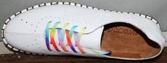 Туфли мокасины Evromoda 19604 White