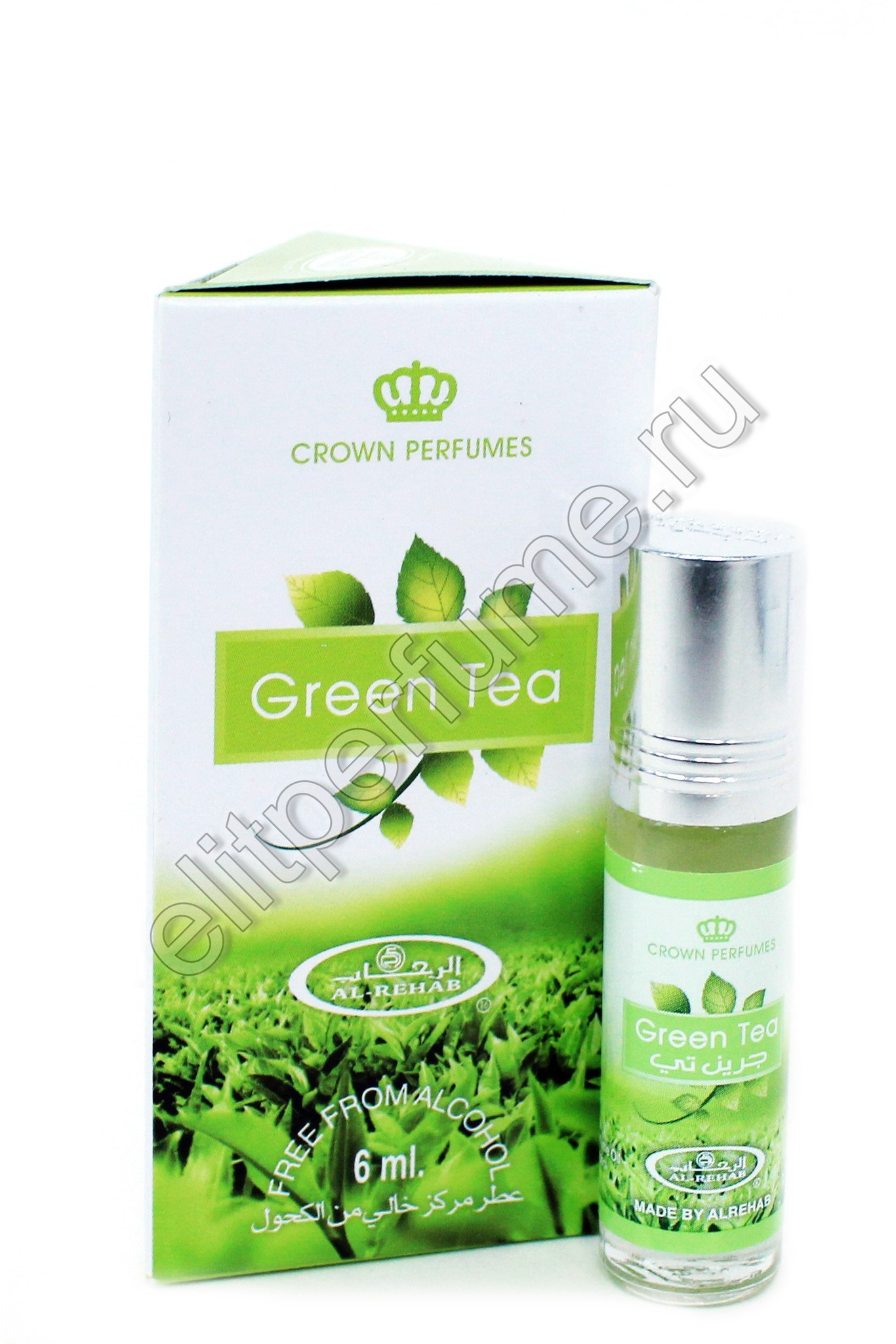 Green Tea Зеленый Чай 6 мл арабские масляные духи от Аль Рехаб Al Rehab