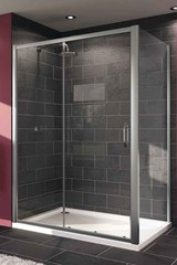Раздвижная душевая дверь в нишу 120*190 см Huppe X1 140402.069.321 фото
