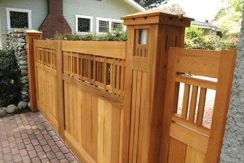 ворота из лиственницы