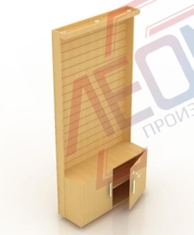 Сп-1 Стеновая панель,накопитель с дверками (витрина)  2416х1232х435 мм