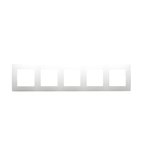 Рамка на 5 постов. Цвет Белый. Legrand Etika (Легранд Этика). 672505