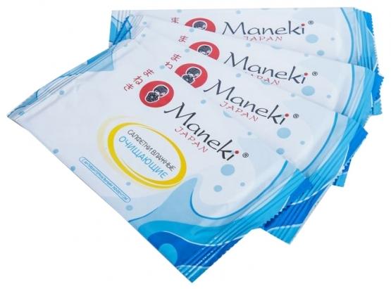 Влажные салфетки Kaiteki, Maneki, в индивидуальной упаковке, 15 шт.