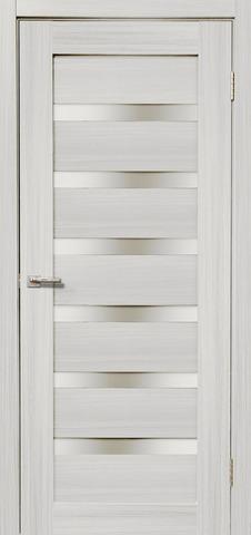 Дверь Дера Мастер 643, стекло белое, цвет сандал белый, остекленная