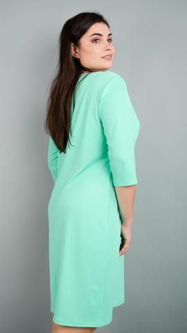 Арина креп. Универсальное  платье больших размеров. Мята.