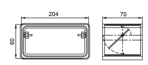 Соединитель-муфта с обратным клапаном 204х60 мм пластиковый