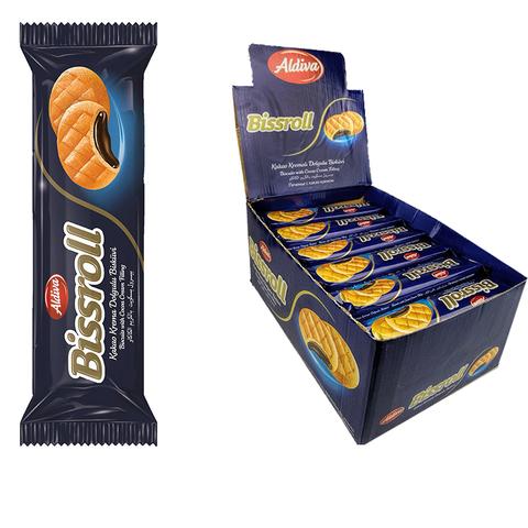 BISSROLL печенье с какао  кремом 1кор*6бл*24шт 72гр.
