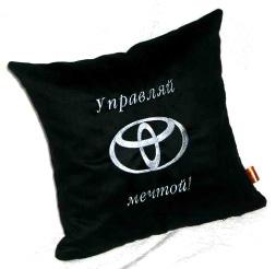 Подушка автомобильная с логотипом TOYOTA