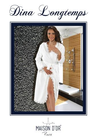DINA LONG - ДИНА  удлиненый женский бамбуковый халат Maison Dor (Турция)