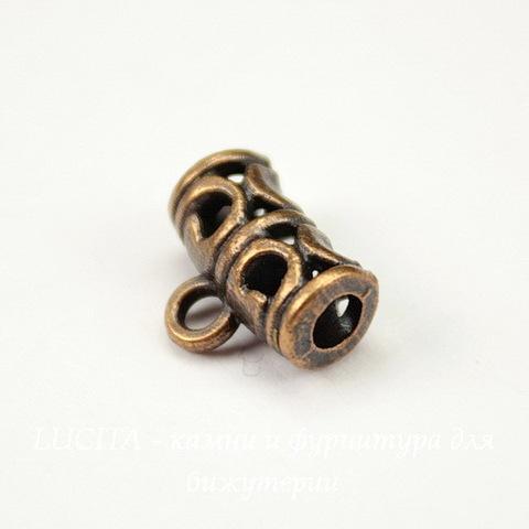 Бейл ажурный 11х9x5 мм (цвет - античная медь)