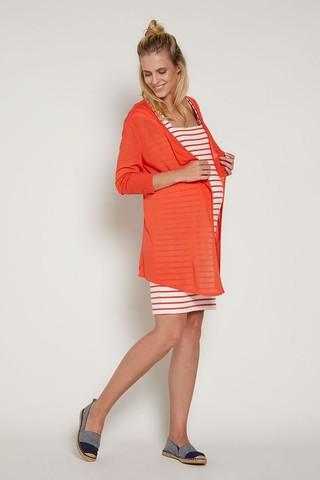 Кардиган для беременных 09545 оранжевый