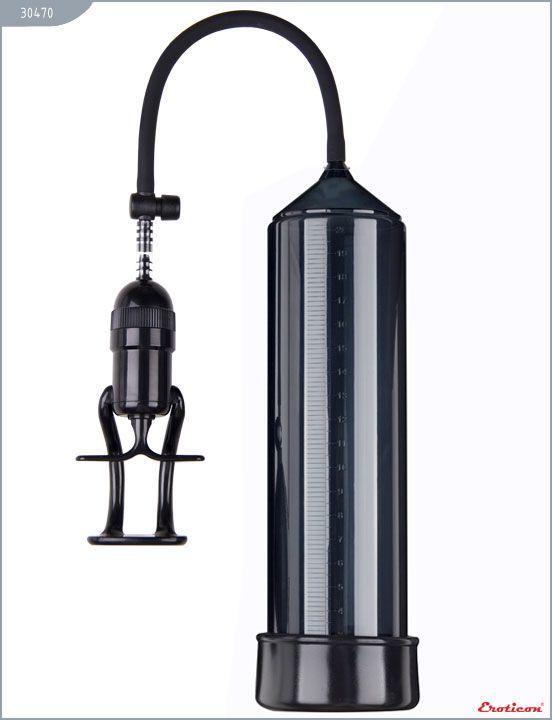 Вакуумные помпы: Чёрная вакуумная помпа Eroticon PUMP X3 с ручным насосом