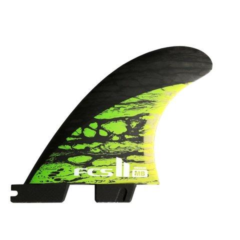FCS II MB PC Carbon Tri-Quad Retail Fins Green Medium