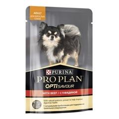 Purina Pro Plan ADULT пауч для взрослых собак с говядиной 100 г 1 шт