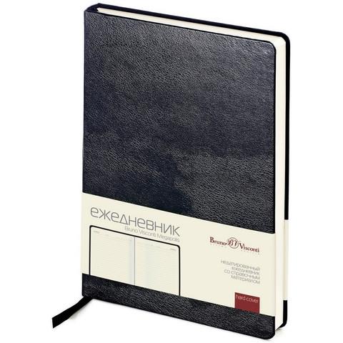 Ежедневник недат,черный,А5,145х215мм,160л,Br.V.MEGAPOLIS