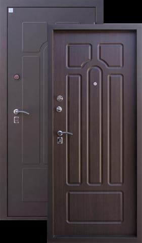 Дверь входная Алмаз Опал 2, 2 замка, 1,5 мм  металл, (чёрный шёлк+венге)