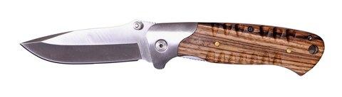 Мужской недорогой классический стальной складной нож с клинком 89 мм и деревянной рукояткой Stinger SL413