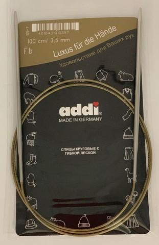 Спицы, круговые, супергладкие, №3.5, 100 см. ADDI Германия арт.105-7/3.5-100