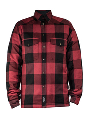 Моторубашка с кевларом John Doe Lumberjack, красный
