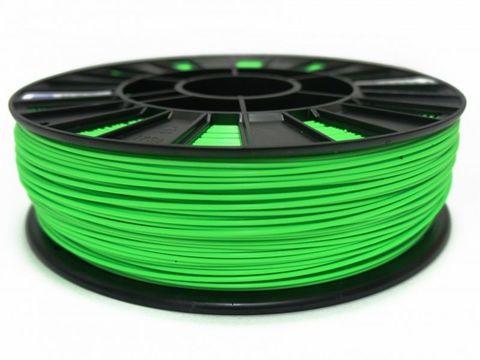 Пластик ABS REC 1.75 мм 750г., зеленый люминесцентный