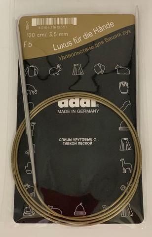 Спицы, круговые, супергладкие, №3.5, 120 см. ADDI Германия арт.105-7/3.5-120
