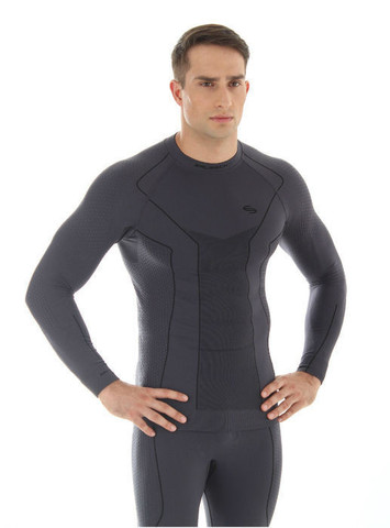 Термобелье рубашка Brubeck Thermo синяя (LS11670) мужская