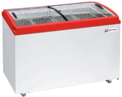 Ларь морозильный  OPTIMA 400Е PRIME ( с гнутым стеклом ) (1206х632х775h, кВт.ч./сут 3,8)