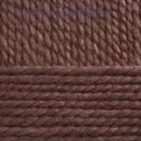 Пряжа Смесовая Пехорский текстиль Коричневый меланж 517
