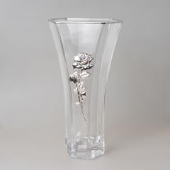 Ваза декоративная 35 см серебро 6768/b490