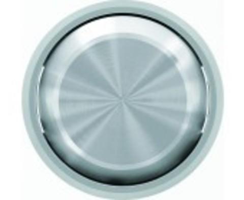 Выключатель одноклавишный. Цвет Хром. ABB Skymoon. 8101+2CLA860100A1401