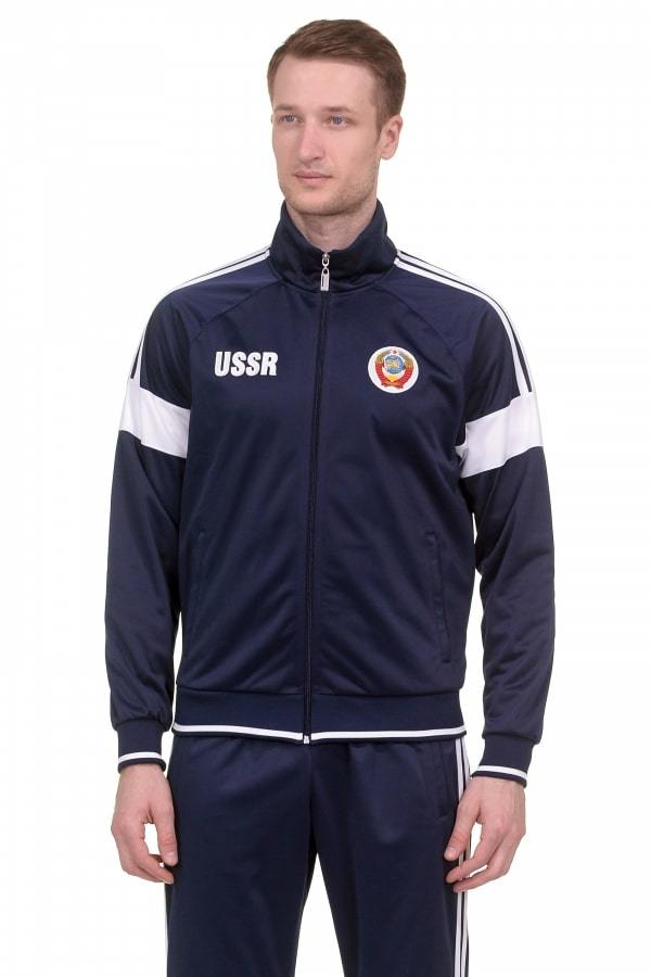 Спортивный костюм USSR с гербом синий