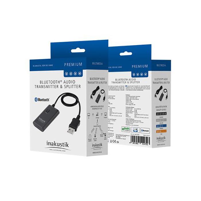 Inakustik Premium Bluetooth Transmitter & Splitter, 00415009