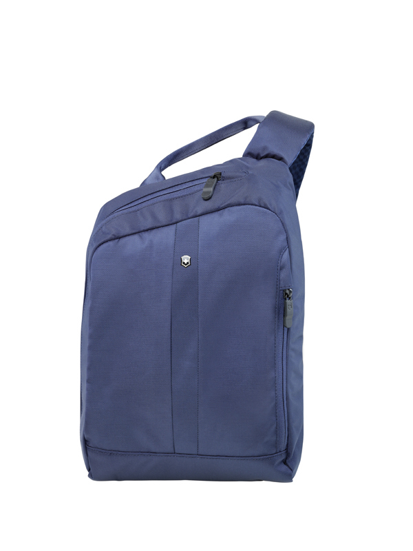 7b5338d8886a Рюкзак Victorinox Gear Sling с защитой w/RFID, с одним плечевым ремнём,  синий, 24x10x34 см, ...