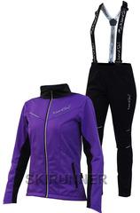 Женский утеплённый лыжный костюм Nordski Premium 2018 Violet-Black