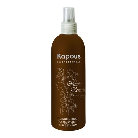 Кондиционер-реструктурант с кератином,Kapous Magic Keratin,200 мл.