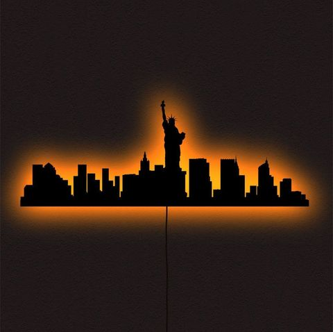 Нью-Йорк настенный светодиодный RGB светильник (ночник)