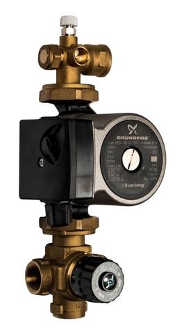 Насосно-смесительный узел Stout с насосом Grundfos UPSO 25-65 130 с термостатическим клапаном