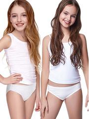 7120 трусы для девочек, белые (10 шт)
