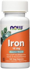 NOW IRON 18MG FERROCHEL(R) (120 VCAPS)