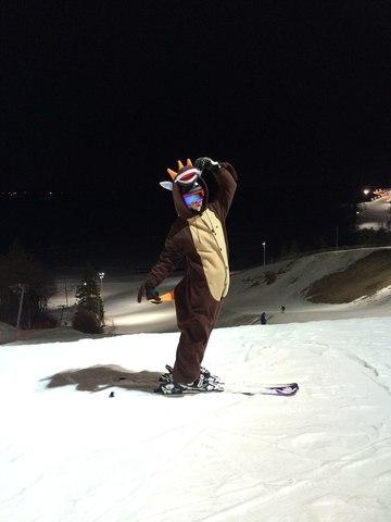 В кигуруми на лыжи!