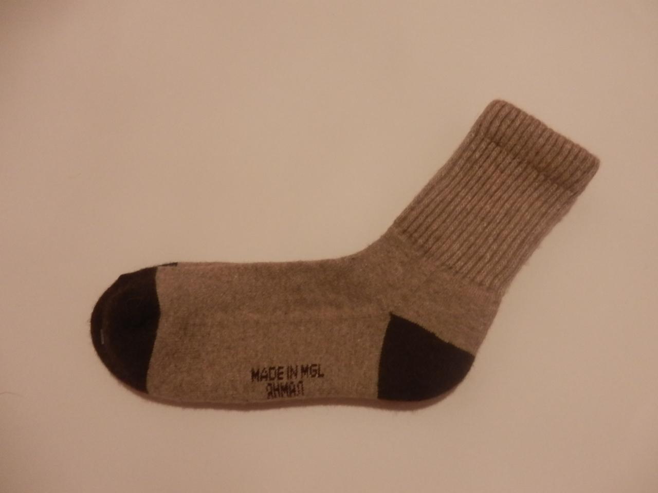Носки из верблюжьей шерсти (бежевые) фото3
