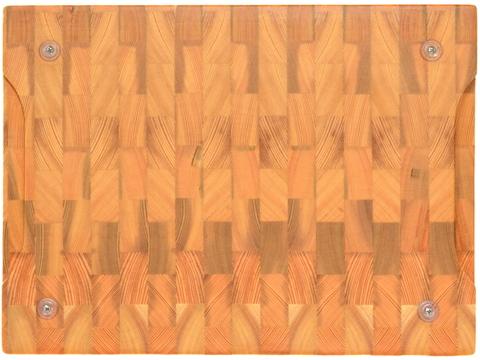 деревянная Торцевая разделочная доска 40х30х3 см лиственница
