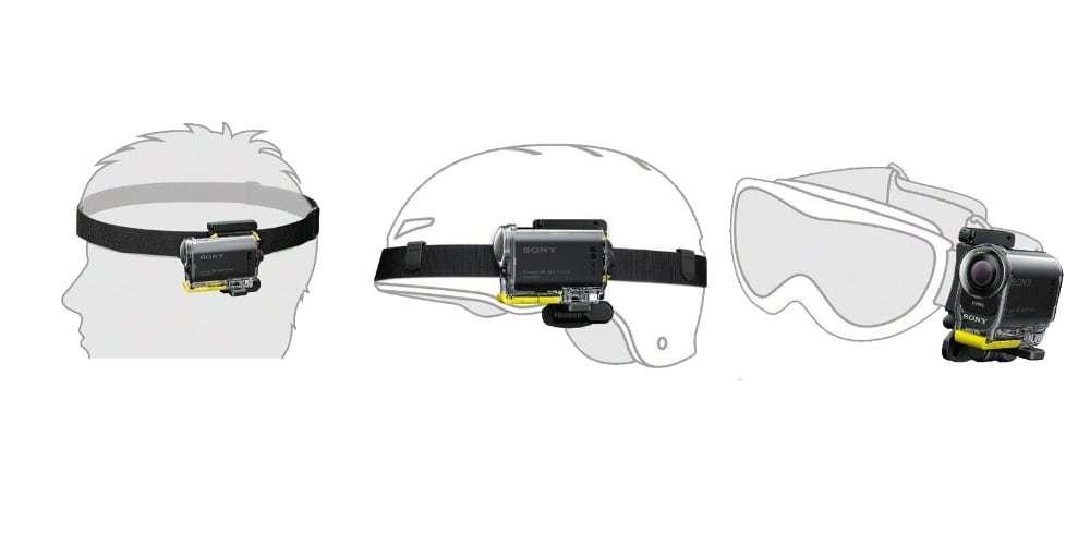 Крепление на голову Sony BLT-UHM1 схема